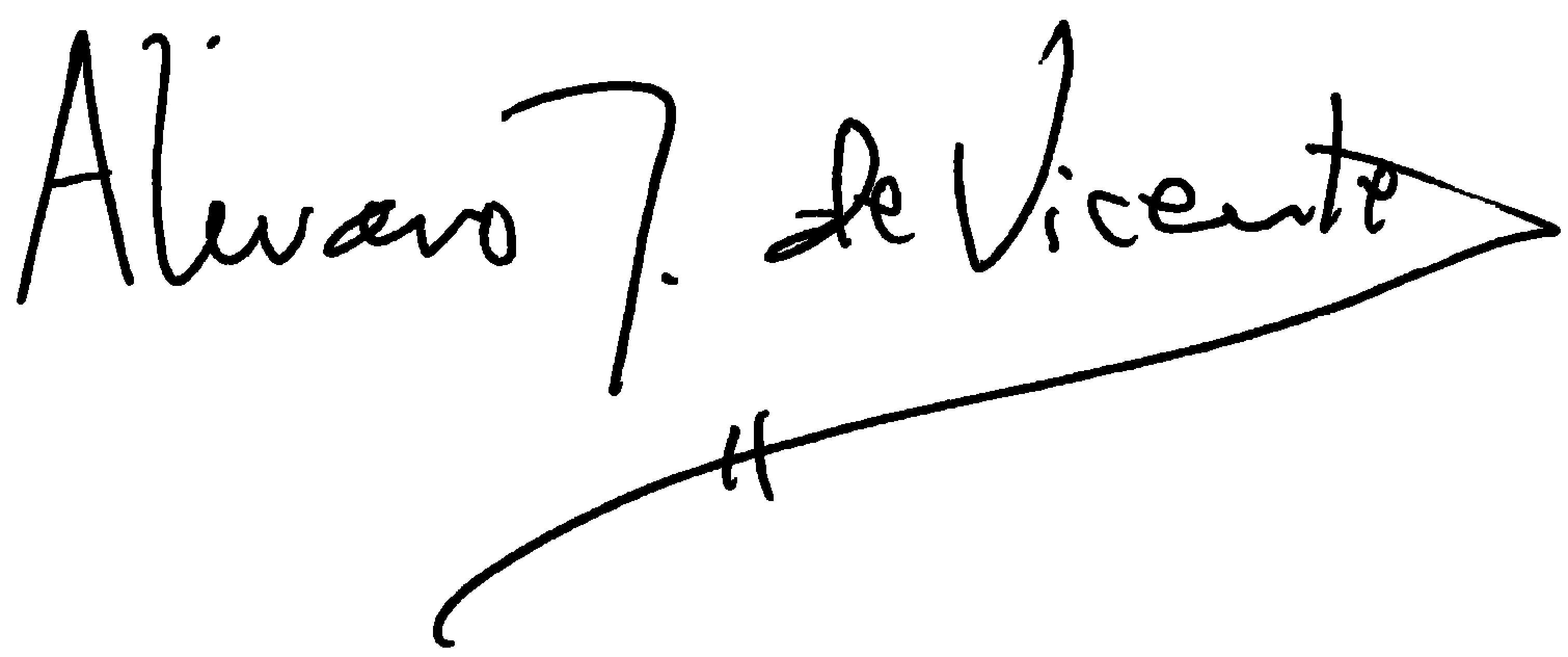 Signature of Headmaster Alvaro de Vicente